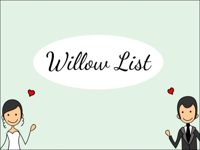 Willow listpitch 2_24_14