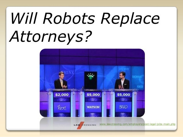 www.lawcrossing.com/employers/post-legal-jobs-main.php Will Robots Replace Attorneys?