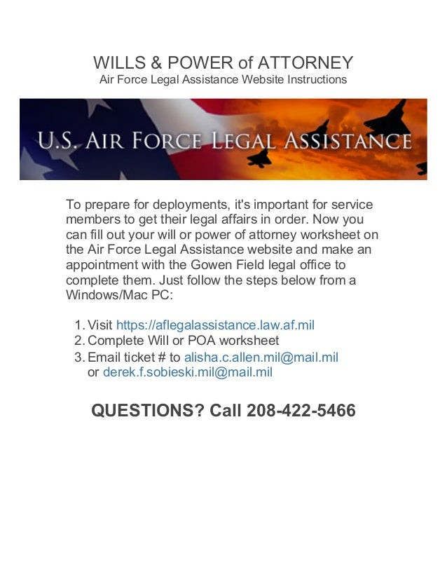 Idaho ANG Wills & Power of Attorney