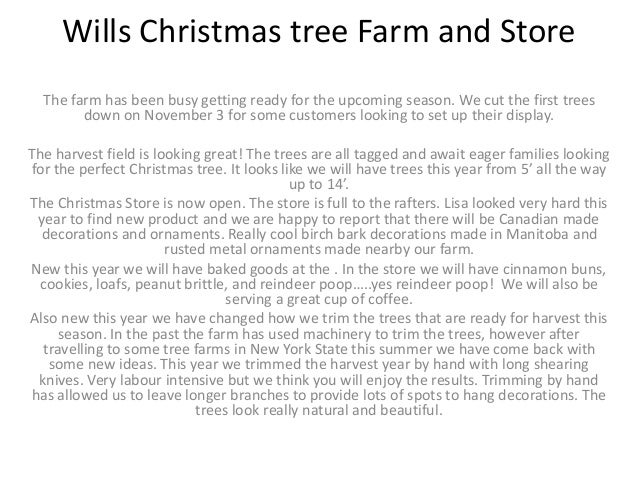 Wills Christmas tree Farm and Store The farm has been busy getting ready  for the upcoming - Wills Christmas Tree Farm And Store