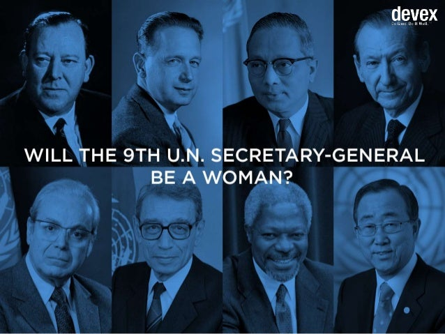 Will the 9th U.N. secretary-general be a woman?