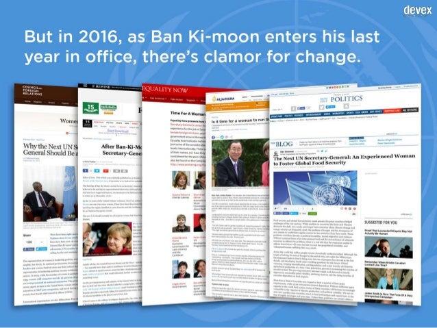 Will the 9th U.N. secretary-general be a woman? Slide 3