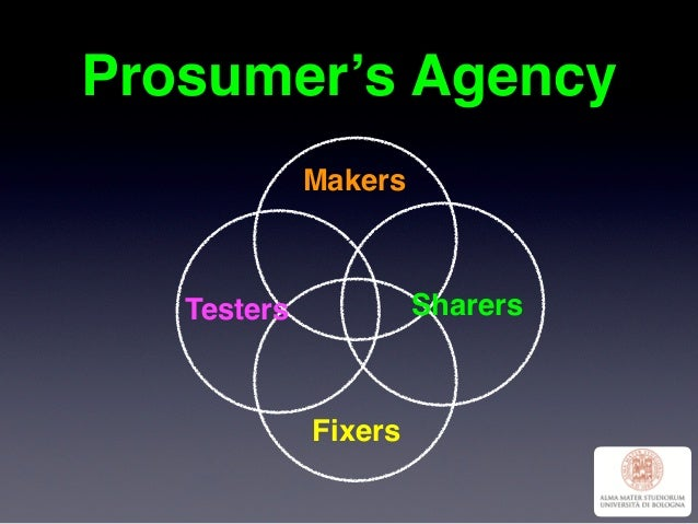 Prosumer's Agency Makers Fixers SharersTesters
