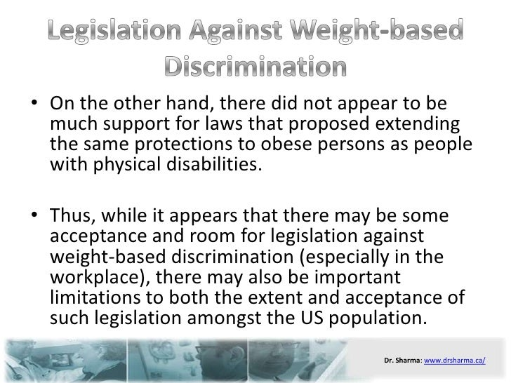 obesity discrimination stigma in literature There is clear documentation of bias and discrimination aimed at overweight persons, but less is known about methods individuals use to cope with weight stigma.