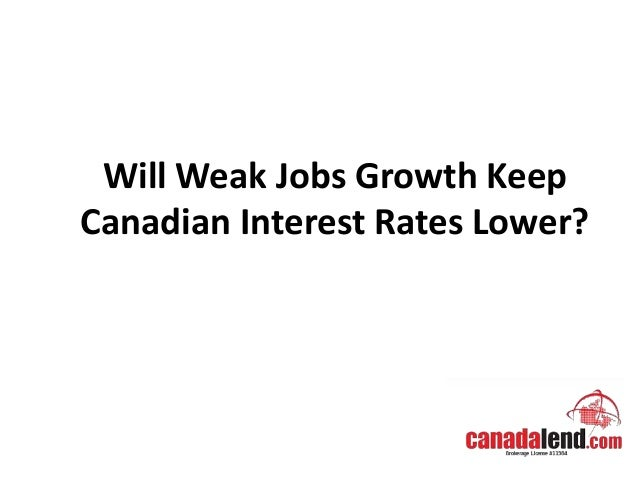 Will Weak Jobs Growth Keep Canadian Interest Rates Lower?