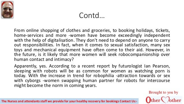 Will women switch men with robots for sex Slide 2
