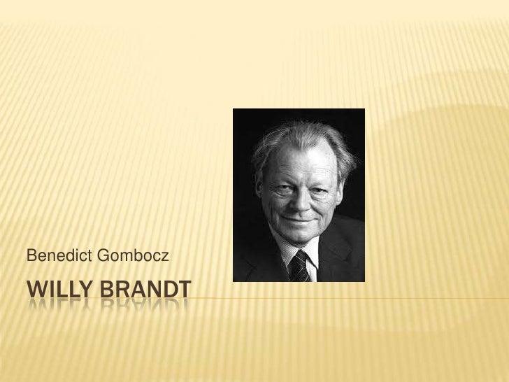 Benedict GomboczWILLY BRANDT