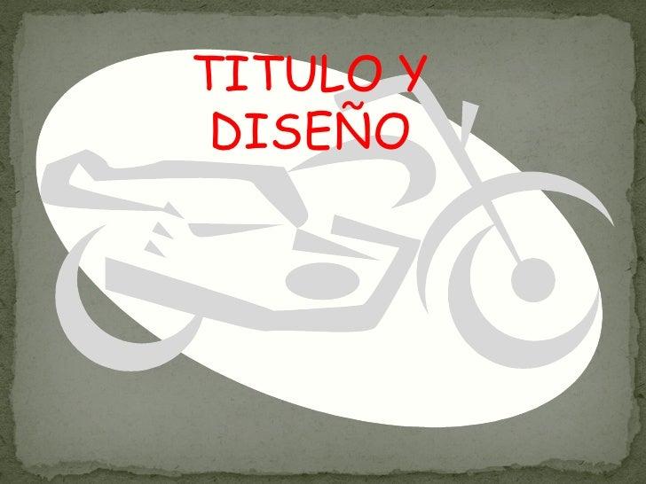 TITULO Y DISEÑO