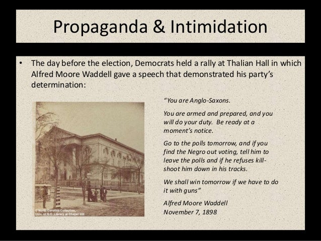 Image result for Waddell's Thalian Hall speech