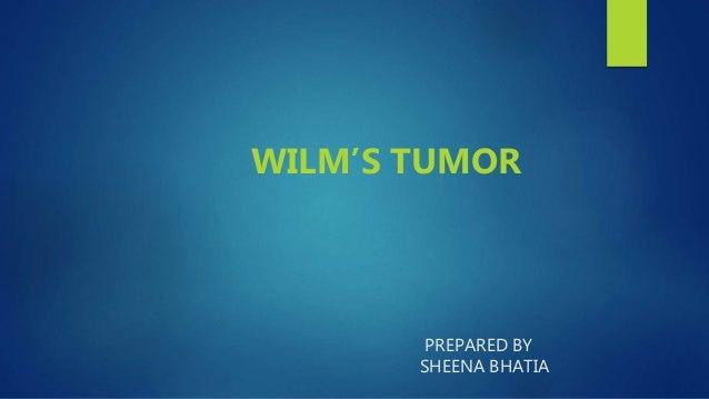 PREPARED BY SHEENA BHATIA WILM'S TUMOR