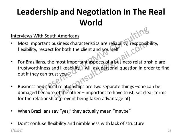 Wilner Cross-Cultural Leadership/Negotiation