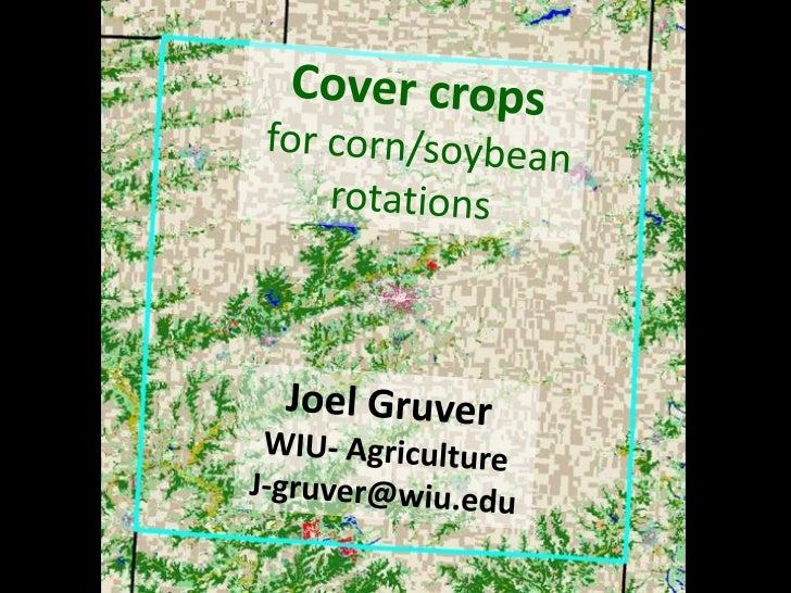 Why cover crops?