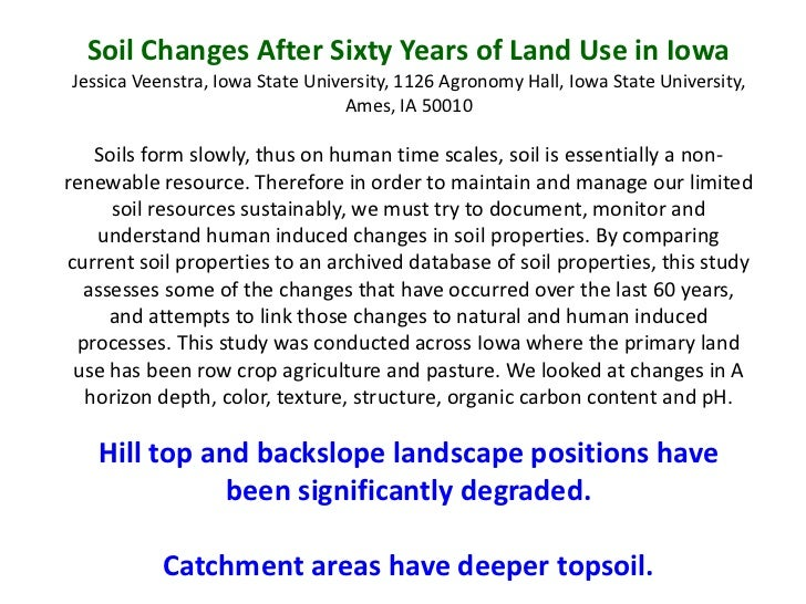 Soil quality does it matter for Soil 60 years