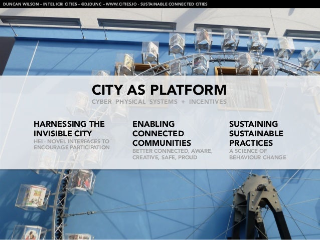 DUNCAN WILSON – INTEL ICRI CITIES – @DJDUNC – WWW.CITIES.IO - SUSTAINABLE CONNECTED CITIES                                ...