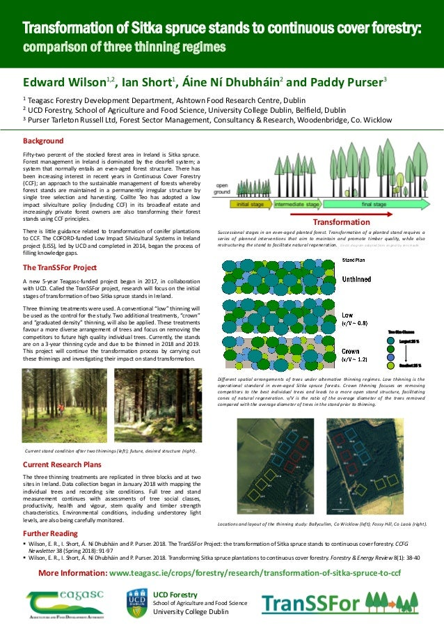 Background Fifty-two percent of the stocked forest area in Ireland is Sitka spruce. Forest management in Ireland is domina...