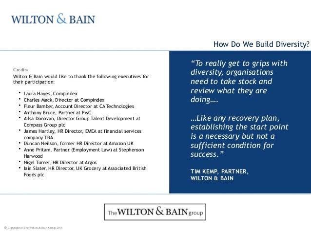 Wilton & Bain Diversity Insight Jan 2016