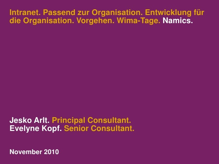 Wima Tage organisationstypen-im_intranet_namics