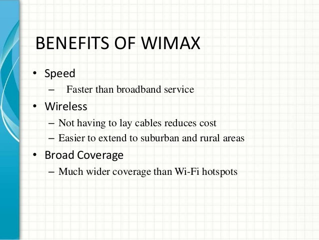 WiMAX Technologies Performance Analysis and QoS