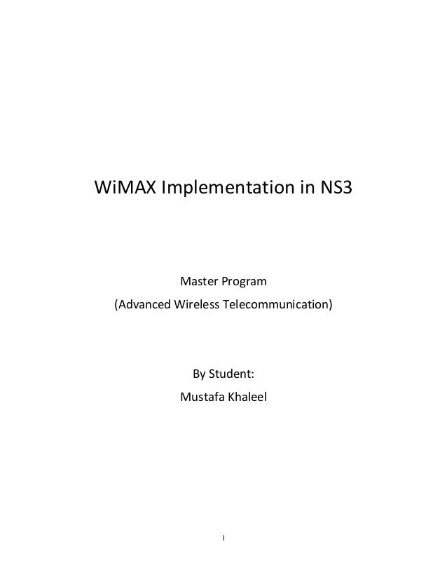 WiMAX implementation in ns3