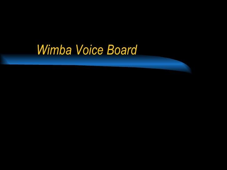 Wimba Voice Board