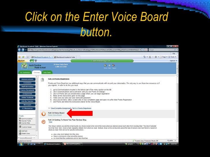 Wimba Voice Board Slide 2