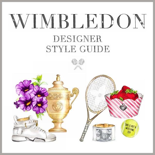 WIMBLEDON DESIGNER STYLE GUIDE LOOKS GEЇNSPIREERD DOOR (v.l.n.r.): Azzedine Alaïa, Louis Vuitton, Moschino, Hermès, Misson...