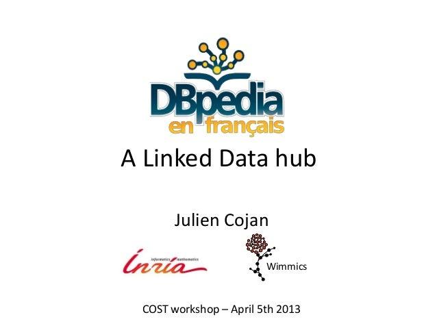 A Linked Data hub       Julien Cojan                        Wimmics COST workshop – April 5th 2013