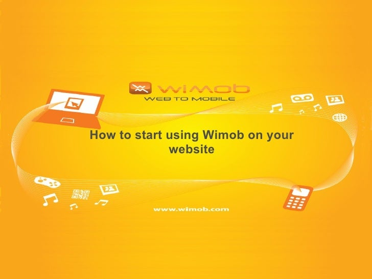 How to start using Wimob on your website