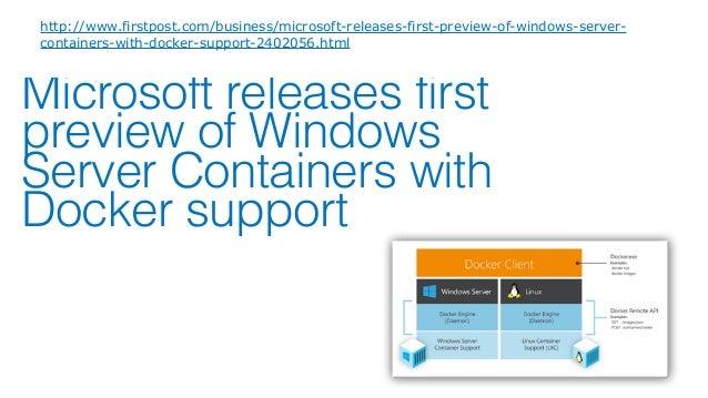 Kernel Windows Server /Hyper-V Containerの違い 8 User mode Kernel mode Host OS Container Management stack Docker PS WMI Appli...