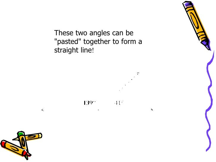 how to tell wether an angle is supplementary or vertical
