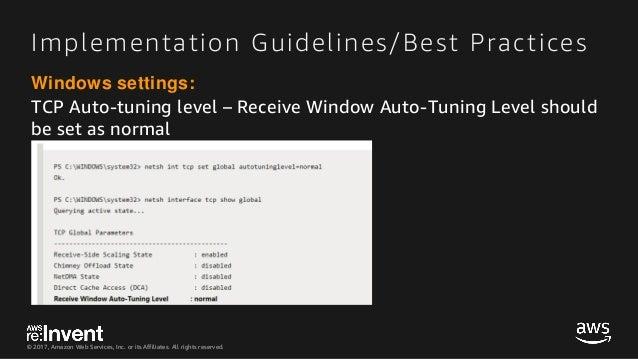 Tcp receive window auto tuning