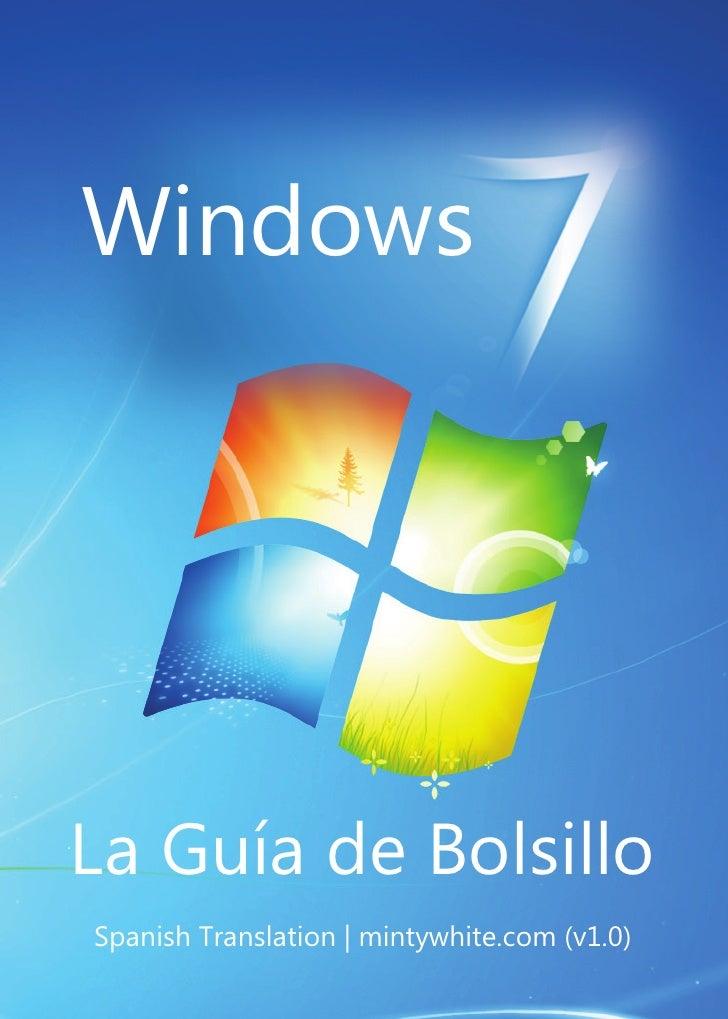 WindowsLa Guía de BolsilloSpanish Translation   mintywhite.com (v1.0)
