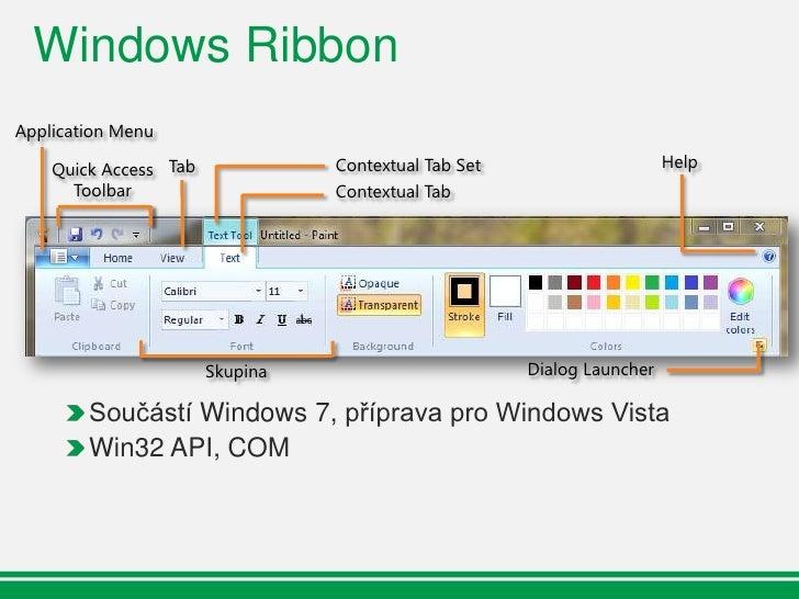 Windows Ribbon - Roadmapa      Platforma:        Platforma:      Platforma:     Managed           MFC native      Native  ...
