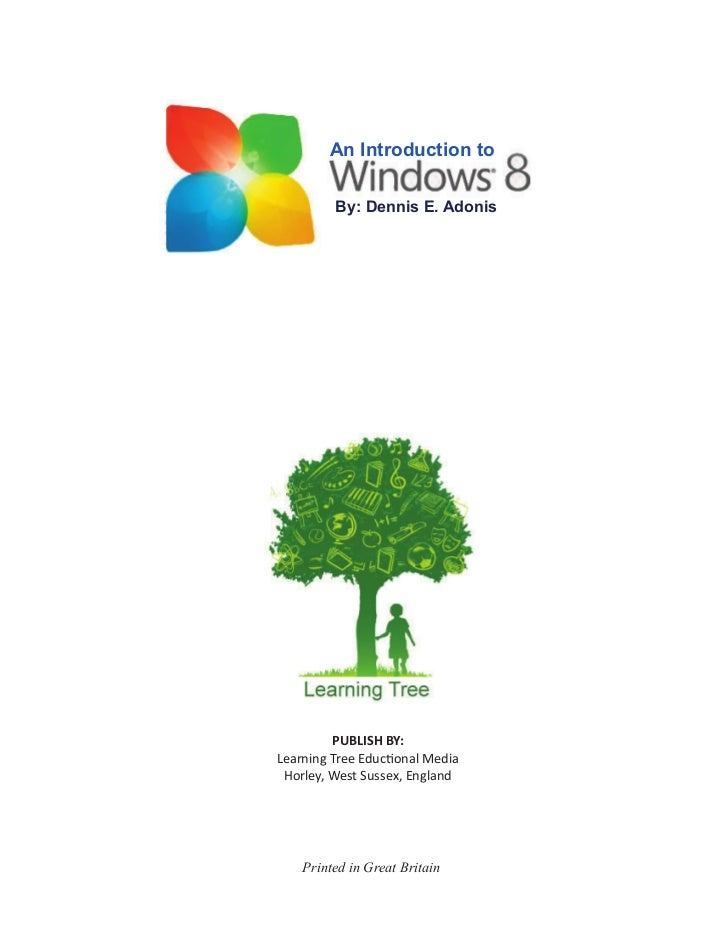 An Introduction to         By: Dennis E. Adonis         PUBLISH BY:Learning Tree Educ onal Media Horley, West Sussex, Engl...