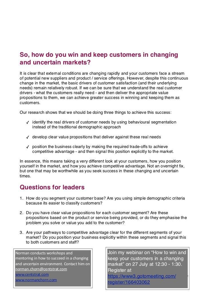 c0e04df8cb1e 13( 6; 7. So, how do you win and keep customers ...