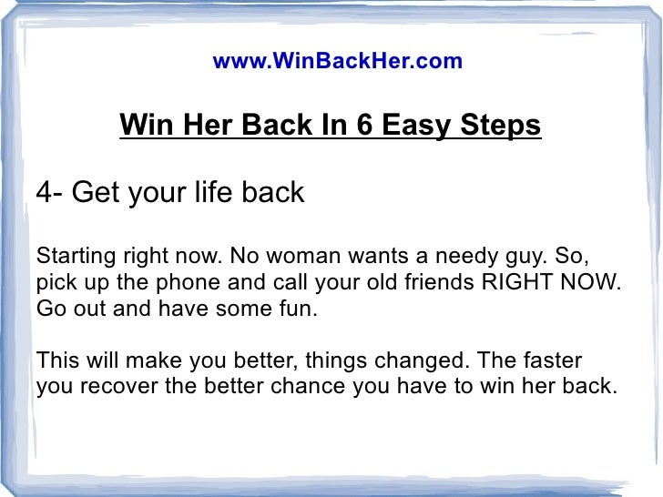 How to win a guy back