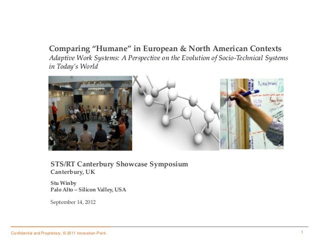 "1Confidential and Proprietary, © 2011 Innovation-Point.Comparing ""Humane"" in European & North American ContextsAdaptive Wo..."