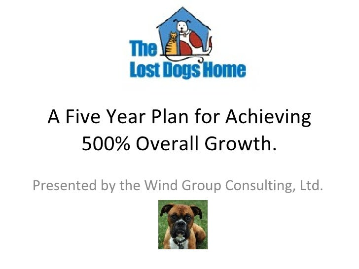 A Five Year Plan for Achieving 500% Overall Growth. Presented by the Wind Group Consulting, Ltd.