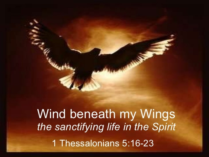 Wind beneath my Wings the sanctifying life in the Spirit 1 Thessalonians 5:16-23