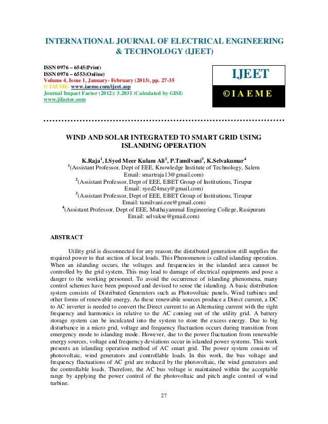 INTERNATIONAL Electrical EngineeringELECTRICAL ENGINEERING International Journal of JOURNAL OF and Technology (IJEET), ISS...