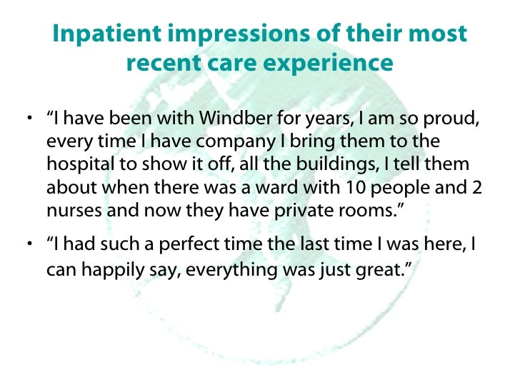 In Their Own Words: What patients, staff, and physicians have to tell us about their experience at Windber Slide 2