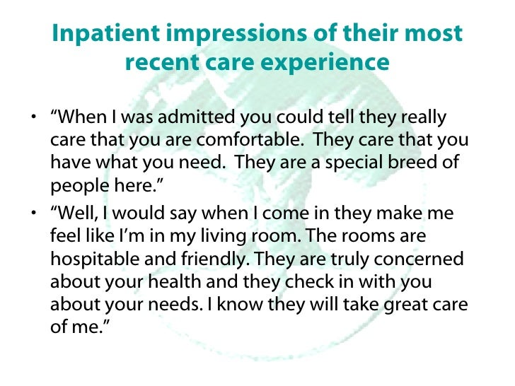 In Their Own Words: What patients, staff, and physicians have to tell us about their experience at Windber Slide 3