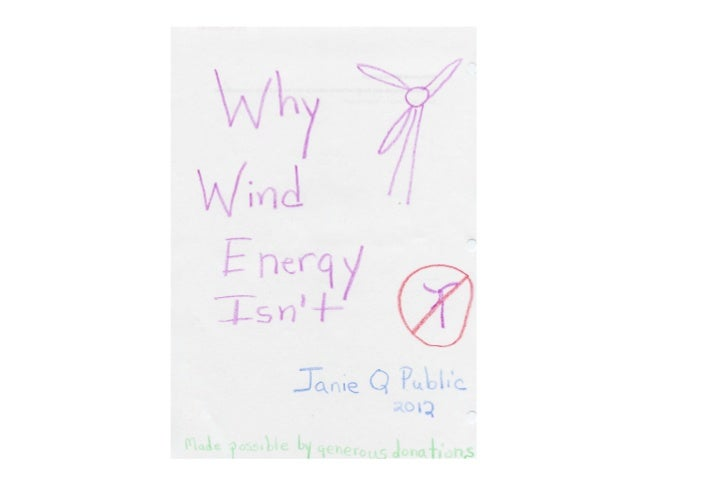 Slide presentation by generously financed wind opponents