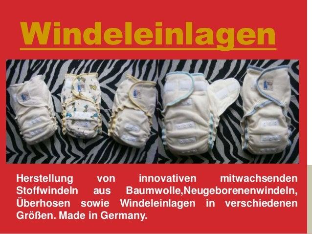 Windeleinlagen Herstellung von innovativen mitwachsenden Stoffwindeln aus Baumwolle,Neugeborenenwindeln, Überhosen sowie W...