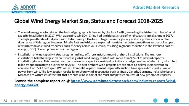 Wind Energy Market Size, Growth, Share and Forecast 2025