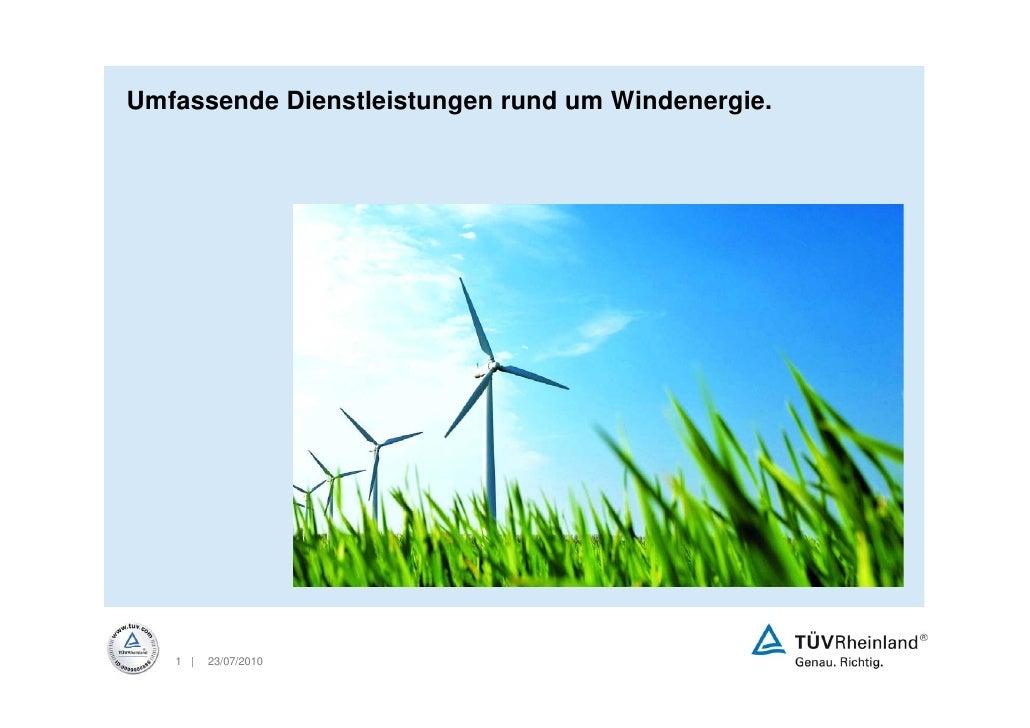 Umfassende Dienstleistungen rund um Windenergie.        1 |   23/07/2010