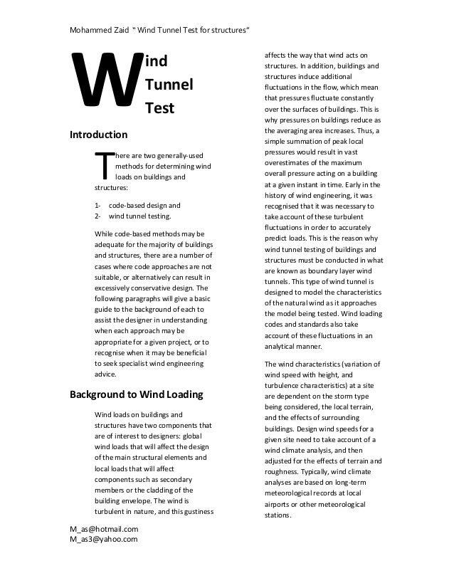 """MohammedZaid""""WindTunnelTestforstructures""""W                                                     affectsthewayt..."""