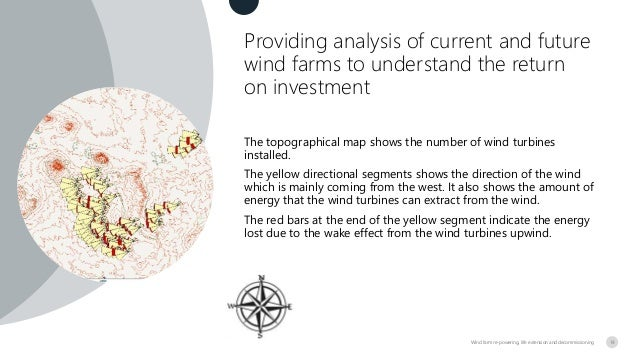 Providing analysis of current and future wind farms to understand the return on investment Wind farm re-powering, life ext...