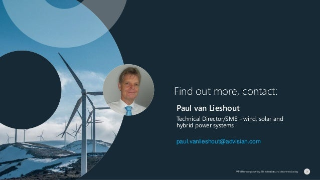 Find out more, contact: Paul van Lieshout Technical Director/SME – wind, solar and hybrid power systems paul.vanlieshout@a...