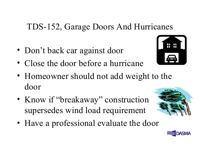 Wind load for Garage door wind code ratings